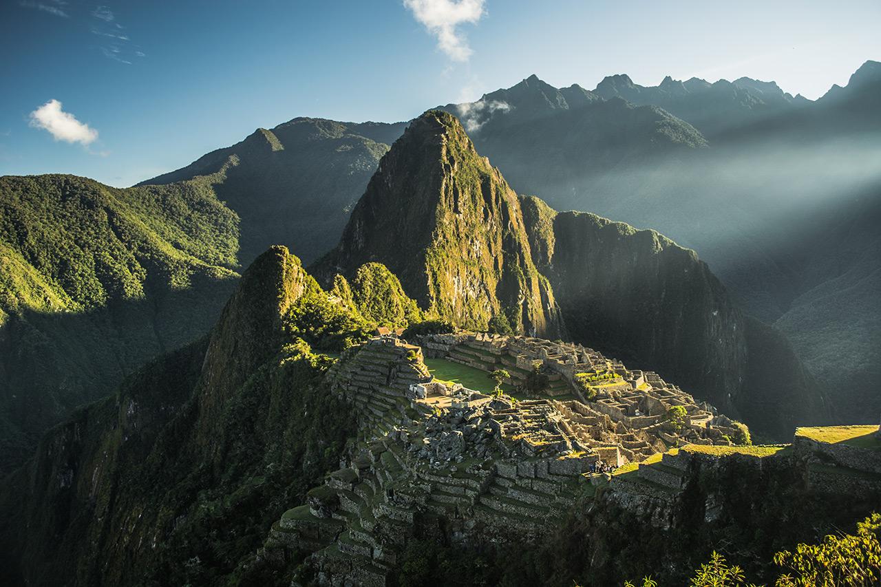 Amanhecer em Machu Picchu.