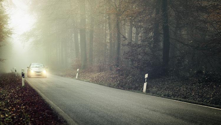 Como viajar em segurança com neblina?